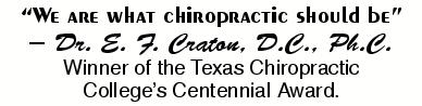 """We are what chiropractic should be!"""